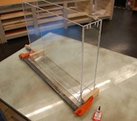 Plexiglass etching tank